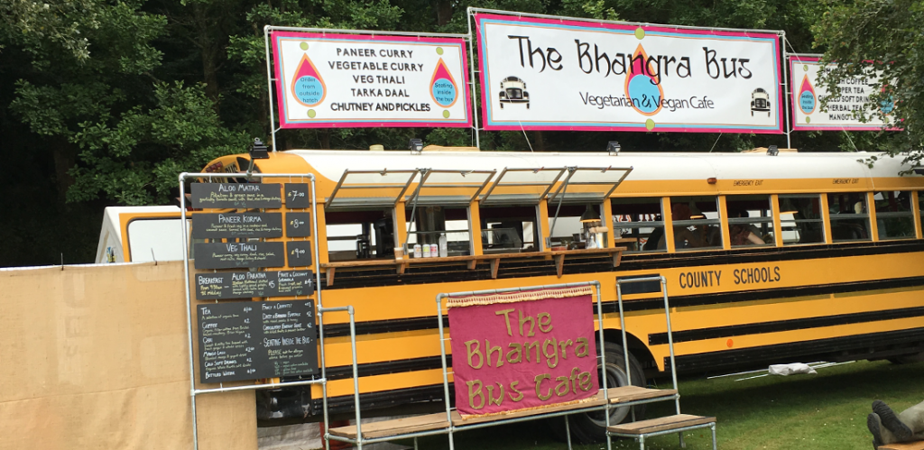 Bhangra Bus made life easy as a festival vegan