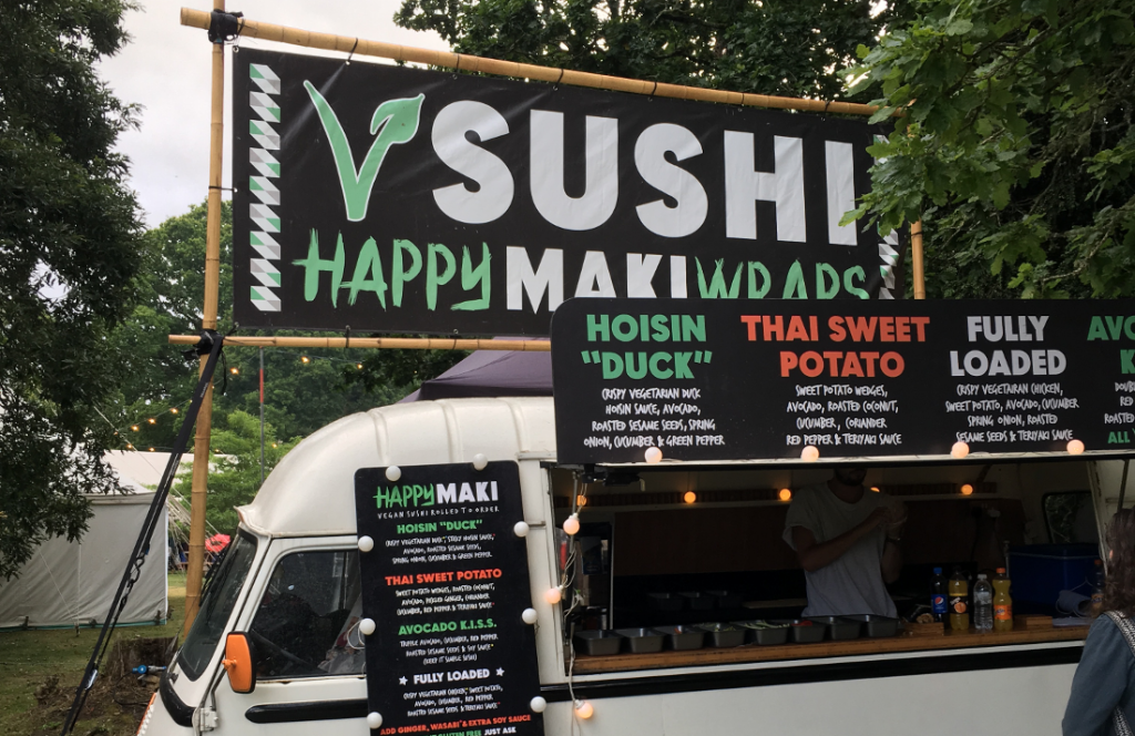 Happy Maki Sushi made me a happy festival vegan