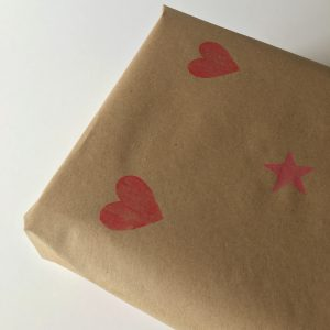 Vegan gift option recycled paper