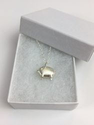 Sterling Silver Piglet Necklace